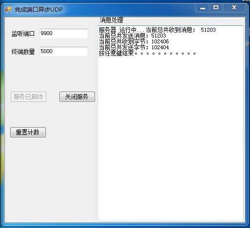 高性能完成端口异步UDP通讯源码